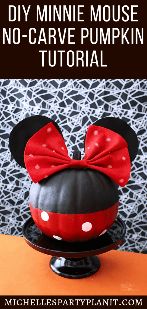 DIY MINNIE MOUSE PUMPKIN