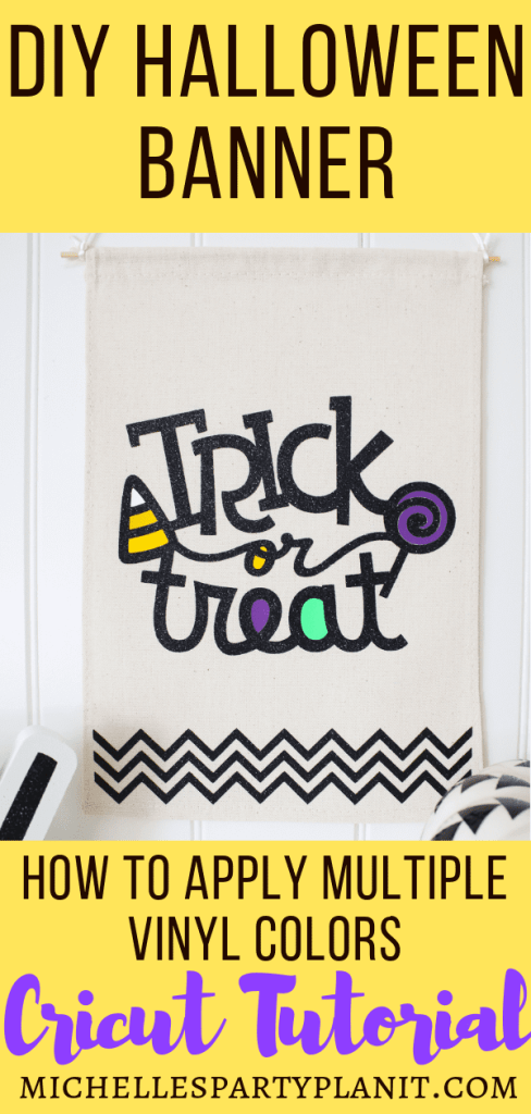 How to Apply Multiple Vinyl Colors with Cricut - DIY Halloween Banner