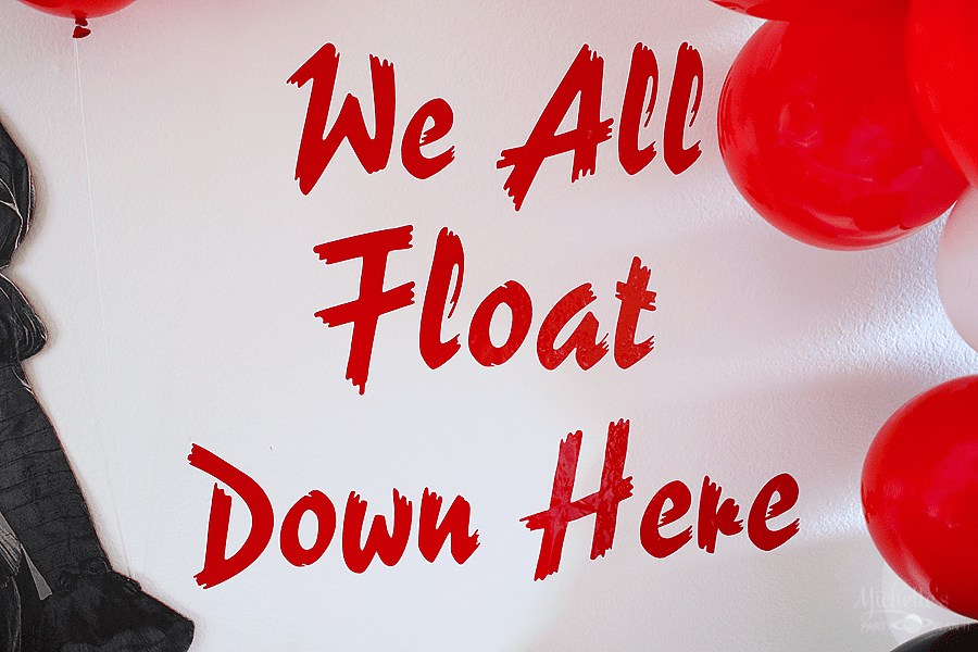 IT Party Ideas - We all float down here