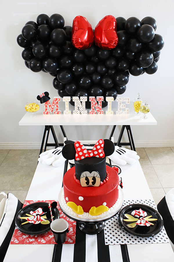 Minnie Mouse Theme for Girls 1st Birthday Party Idea by Michelle Stewart