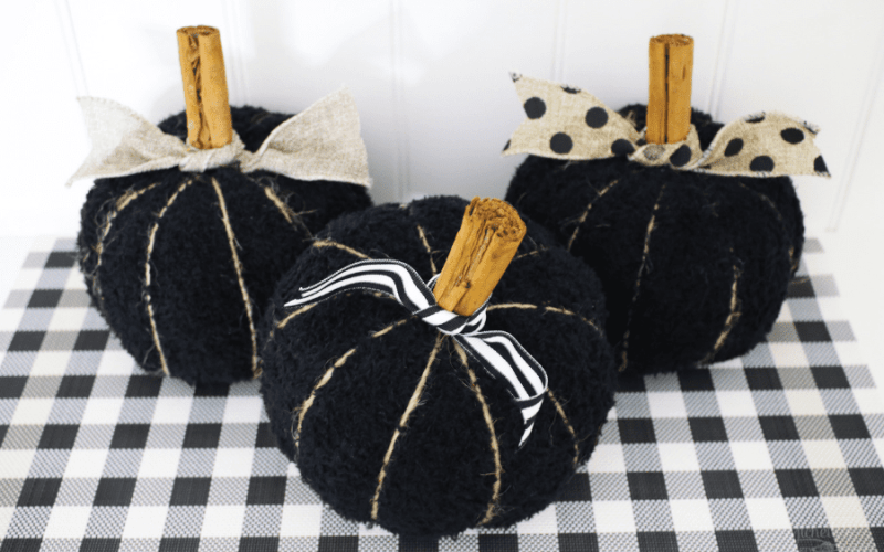 Easy and Budget Friendly DIY Fabric Pumpkins