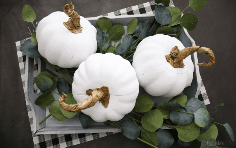 How to Make Farmhouse Pumpkins | Dollar Store Craft
