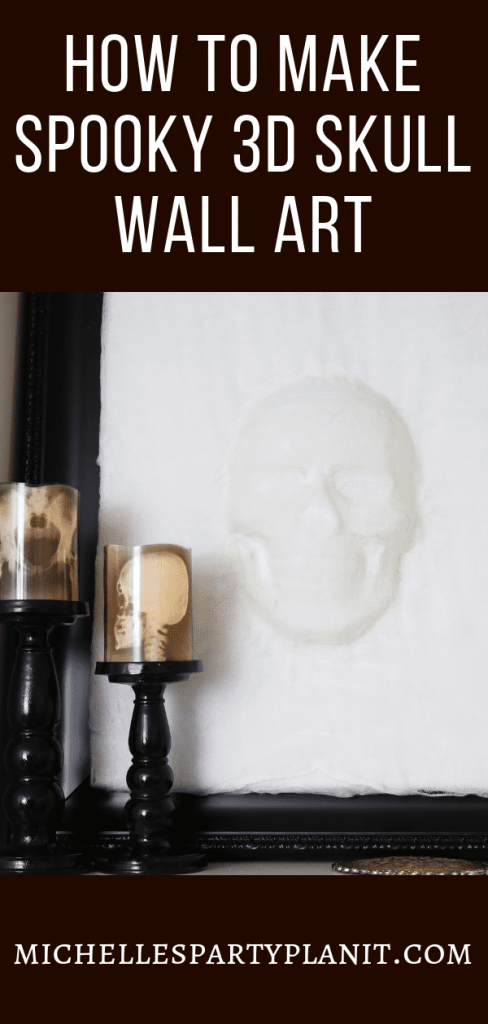 How to Make Spooky 3D Skull Wall Art