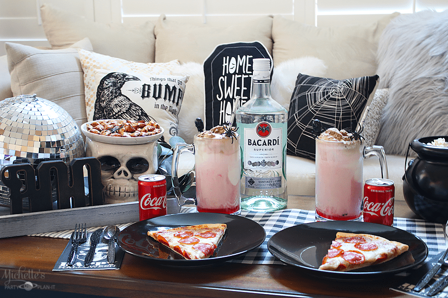 How to Plan a Halloween Date Night In with BACARDÍ® Rum and Coca-Cola® Floats