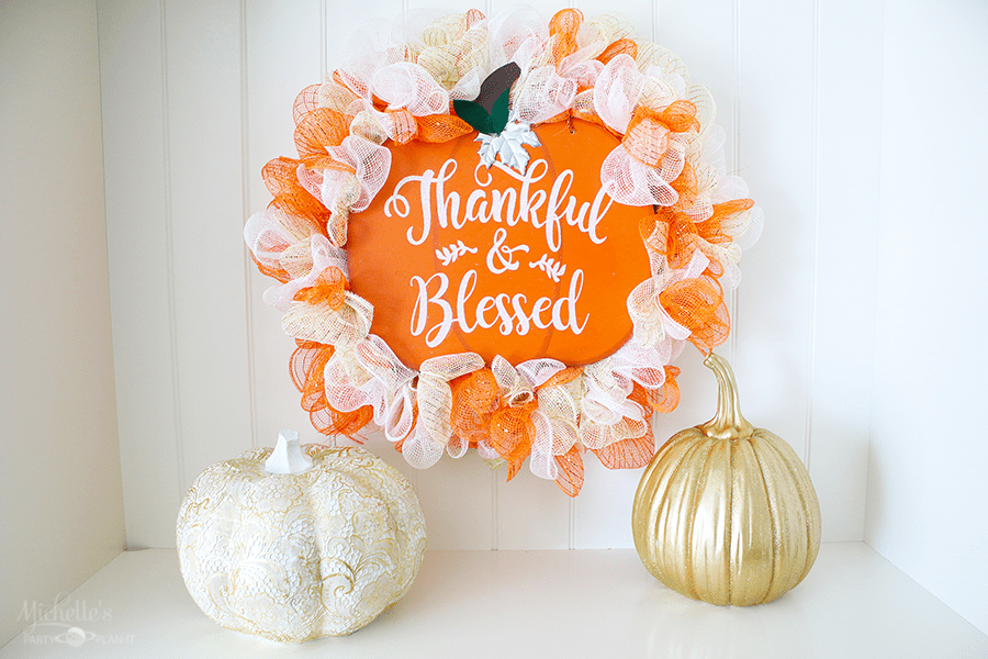 Thankful and Blessed Fall Wreath | Dollar Tree DIY