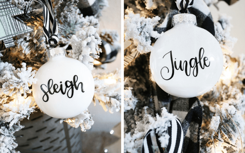 How to Make Simple DIY Christmas Ornaments with Cricut