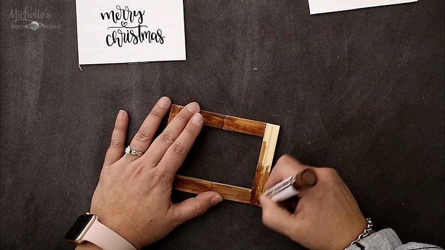 Diy farmhouse christmas ornaments frame