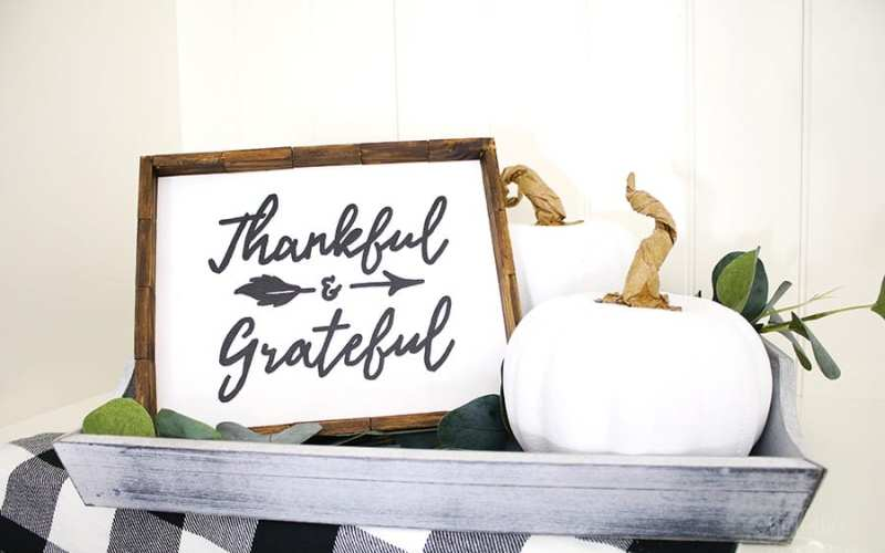 Dollar store farmhouse thanksgiving sign