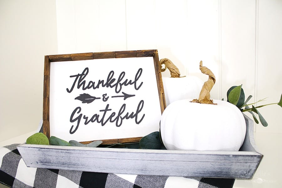 dollar store farmhouse thanksgiving sign