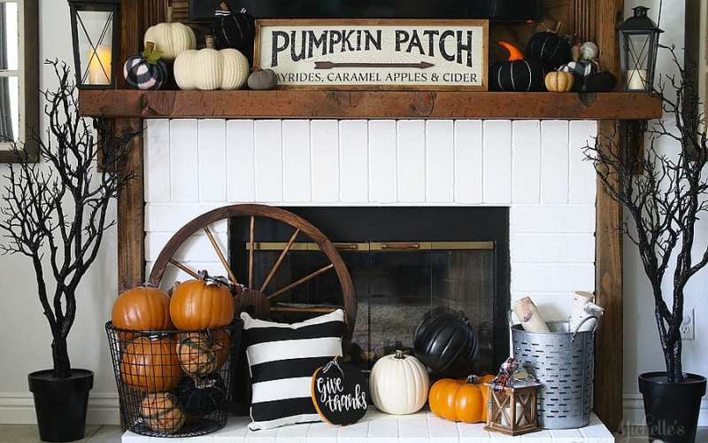 Fall thanksgiving mantle ideas