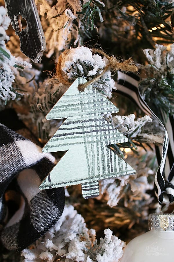 Christmas Tree Chipboard Ornament