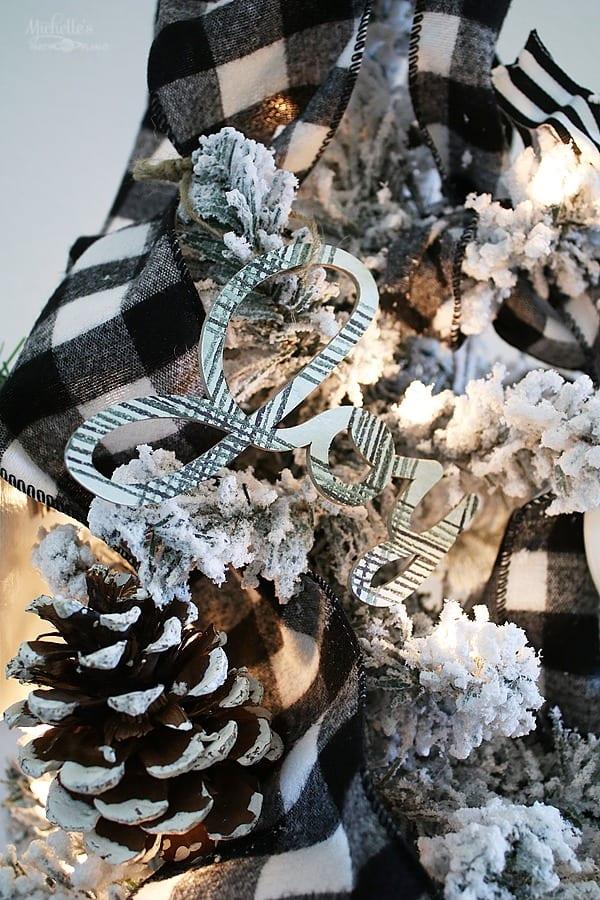 Farmhouse christmas tree decorations 3