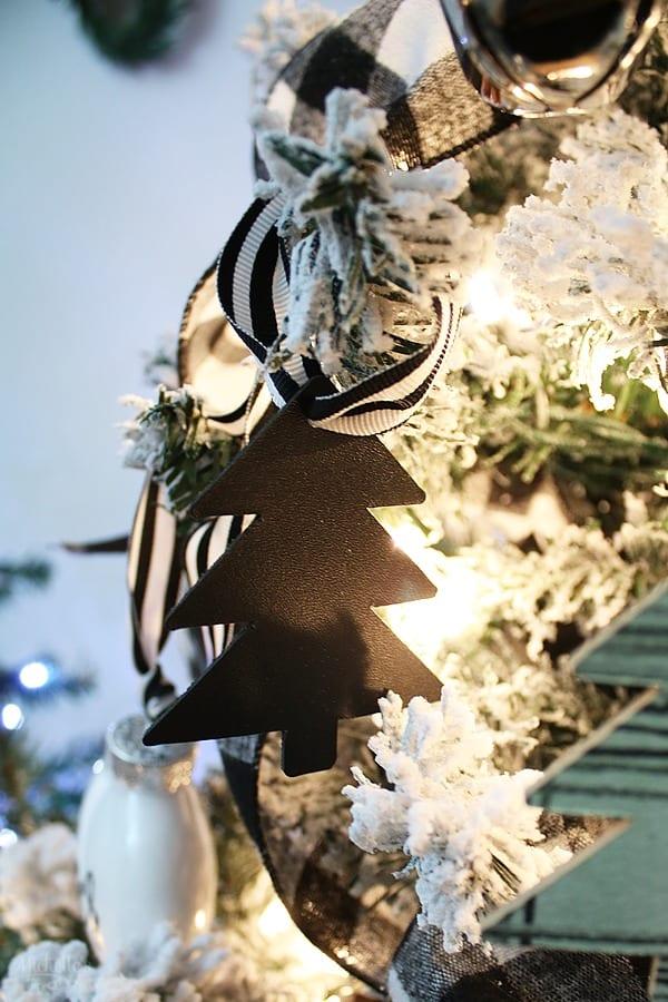 DIY Leather Christmas Tree Ornaments
