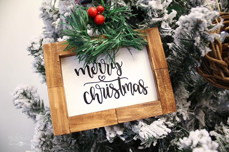How to Make Farmhouse Christmas Ornaments | Dollar Tree DIY