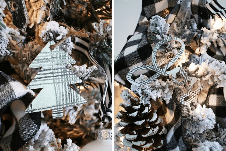 Patterned Chipboard DIY Christmas Ornaments by Michelle Stewart
