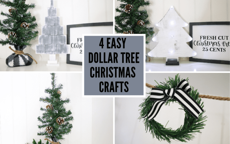 4 Easy Dollar Tree Christmas Crafts – VIDEO TUTORIAL