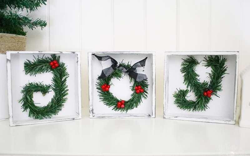 Diy christmas sign joy tabletop