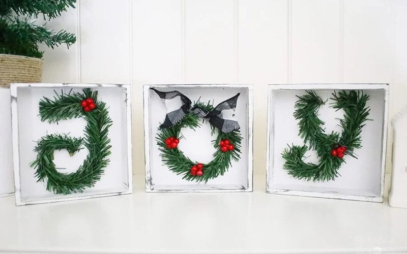 Diy christmas sign joy tabletop