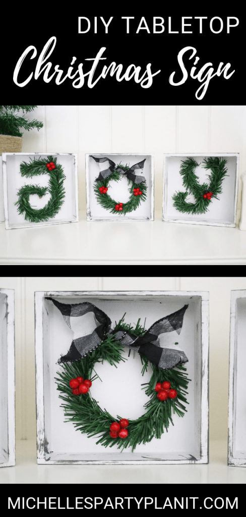 Diy tabletop christmas sign