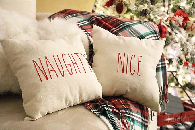 Rae dunn inspired christmas pillows 7