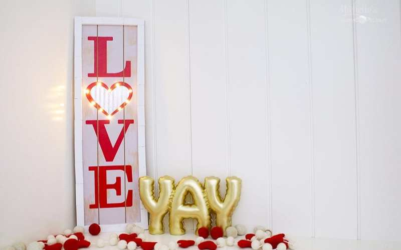 DIY Love Marquee Sign – Dollar Tree Craft