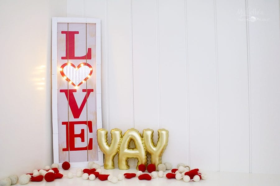 Diy love marquee sign