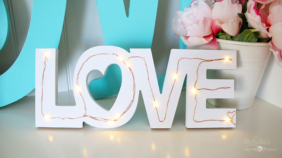 Diy tabletop love sign 5
