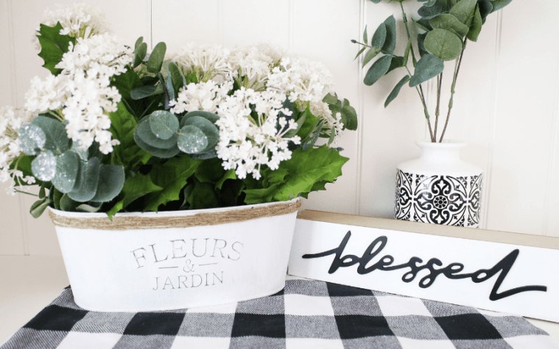 DIY Dollar Tree Farmhouse Planter