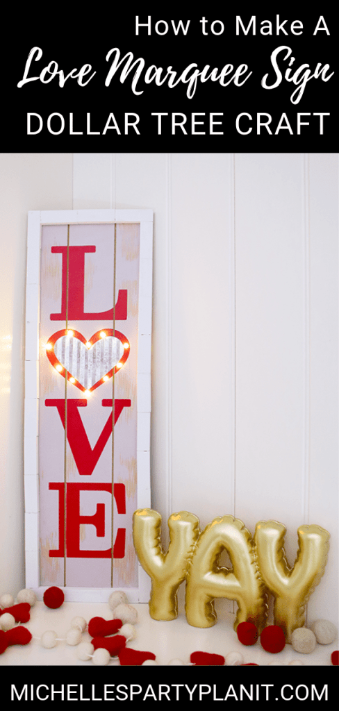 How to make a love marquee sign
