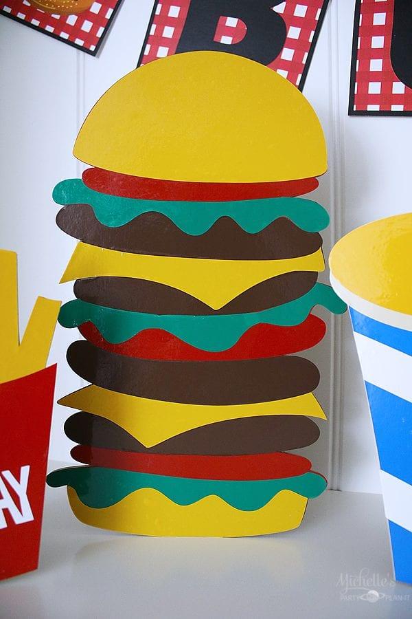 Stand up cheeseburger