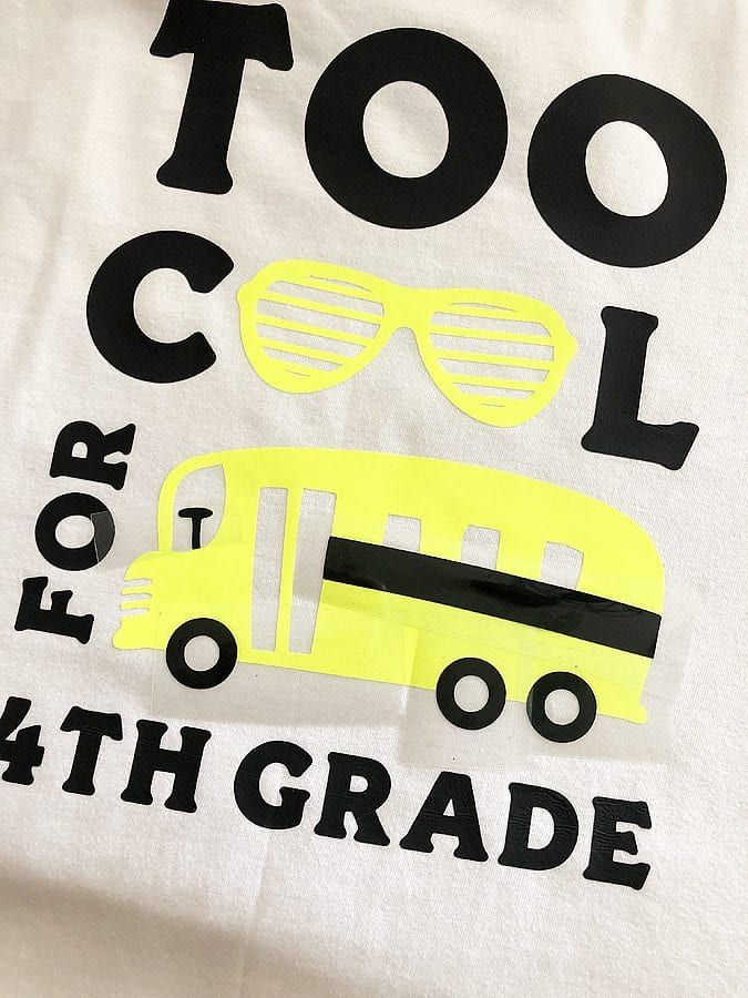 Back to school with cricut 8