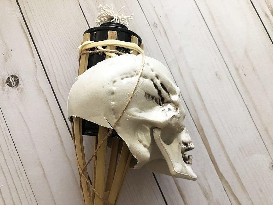 Diy skull tiki torches 5