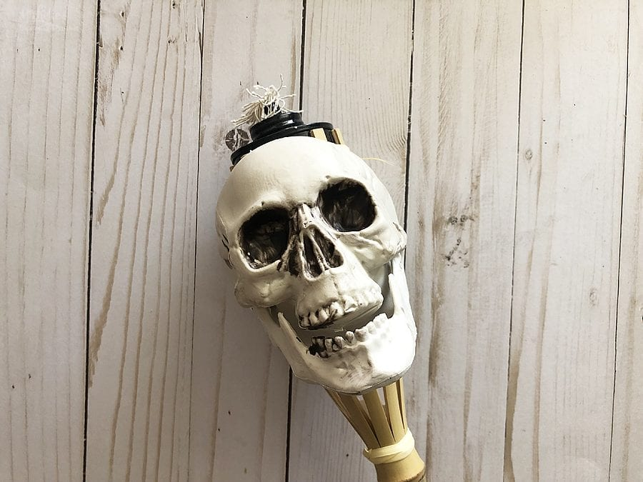 Diy skull tiki torches 6