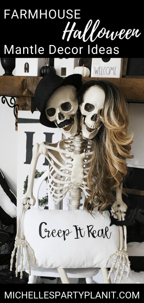 Easy halloween mantle decor ideas 1