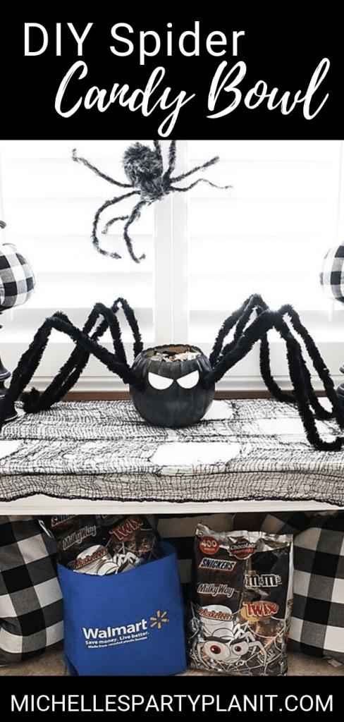 Diy spider candy bowl