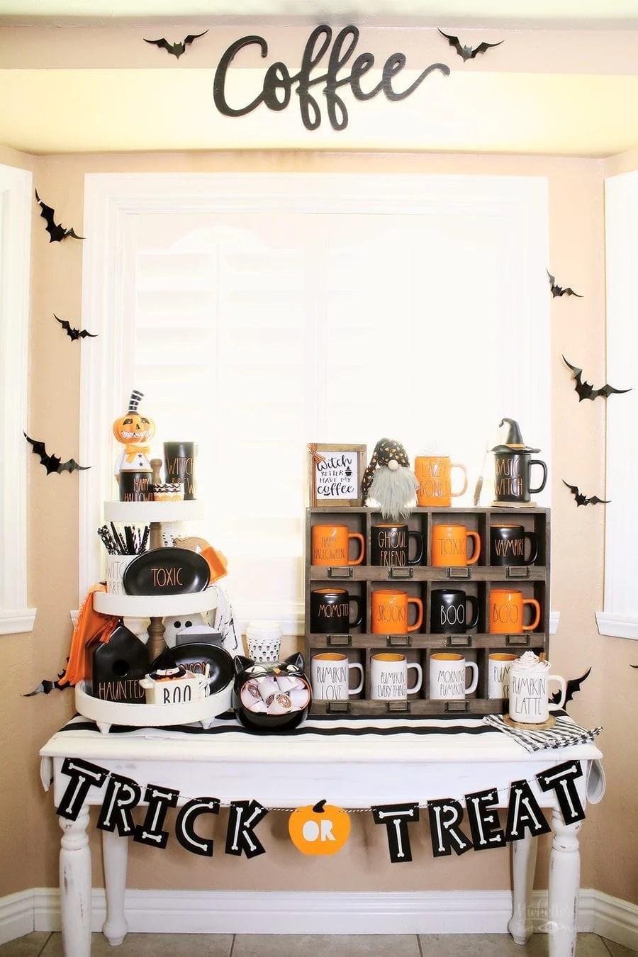 Halloween coffee bar 1