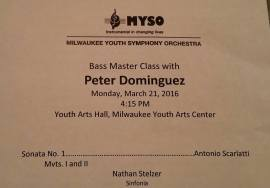 Nate in Master class with Peter Dominguez 1