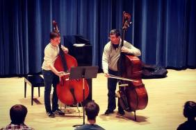 Nate in Master class with Peter Dominguez