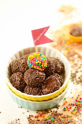 Brazilian Chocolate Fudge Balls (Brigadeiros) by Denise Browning -- www.frombraziltoyou.org