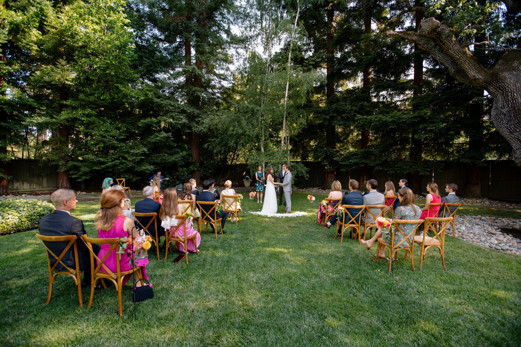 backyard wedding ceremony