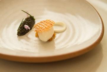 Caviar, potato ice cream, creme fraiche.