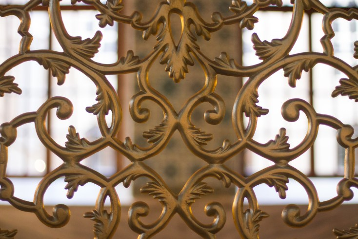 the scrollwork