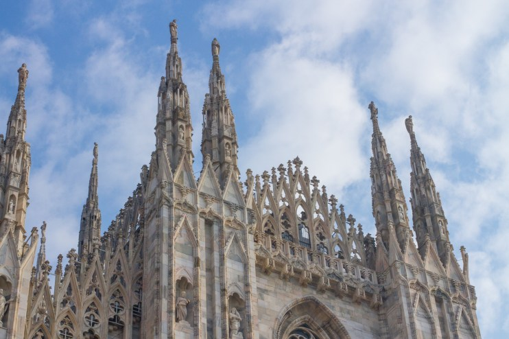 a cooperatively pretty sky over the duomo