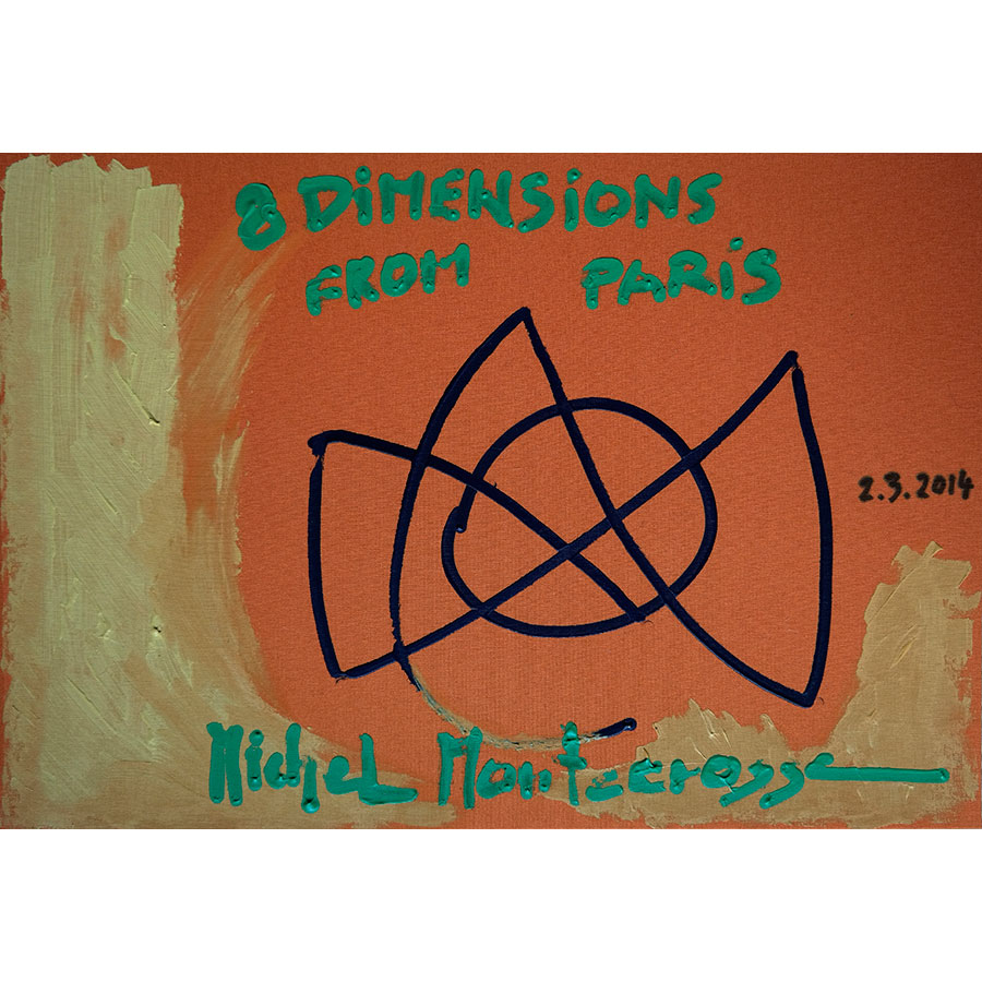 Michel Montecrossa's Cover Painting #6 for his Box-Set '8 Dimensions' Series Of Drawings From Paris