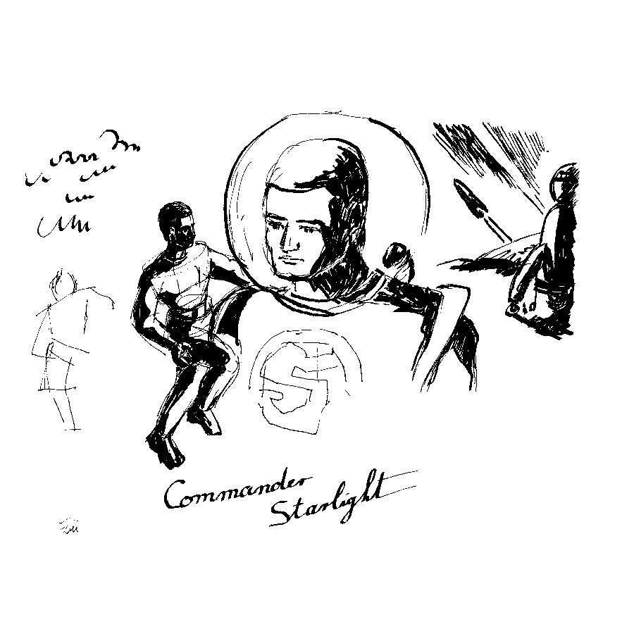 Commander Starlight #2 - drawing by Michel Montecrossa
