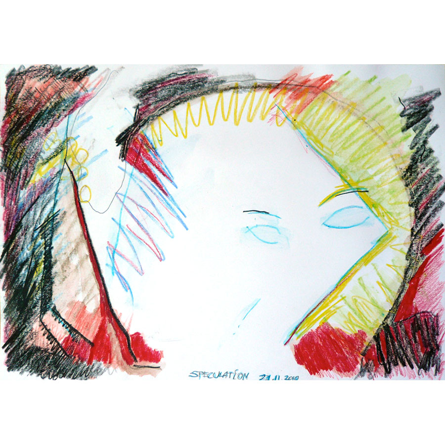 Speculation - painting by Michel Montecrossa