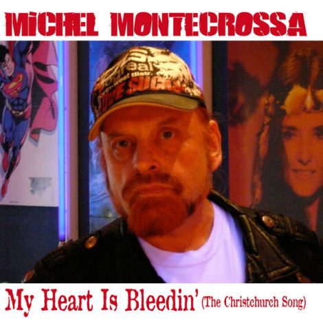 Cover - Michel Montecrossa's single 'My Heart Is Bleedin''