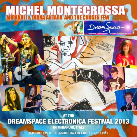 CD-Box: Michel Montecrossa together with Mirakali, Diana Antara and his band The Chosen Few at the DreamSpace Electronica Festival 2013 in Mirapuri
