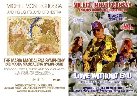 "Upcoming Event: Mirapuri World Peace Festival 2015 with the theme ""Big Love For Big Peace – Große Liebe für Großen Frieden"" presenting from 3rd July – 5th July 2015 lectures and peace culture programs including 'The Maria Magdalena Symphony' Concert as well as the 'Love Without End' free-mind, free-heart Peace Song Concert on 4th July 2015"