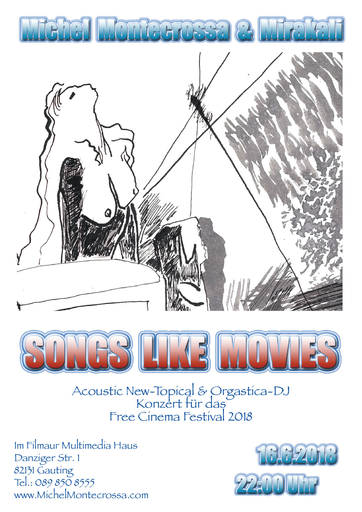 'Songs Like Movies' Concert with Michel Montecrosa & Mirakali